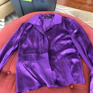 Long Sleeve Silk Blouse